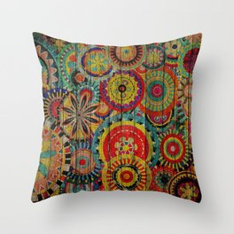 Kashmir on Wood 01 Throw Pillow