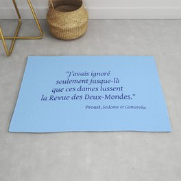 Imparfait du subjonctif 3- Proust. Rug