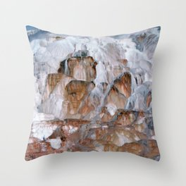 Mammoth Hot Springs Yellowstone Throw Pillow