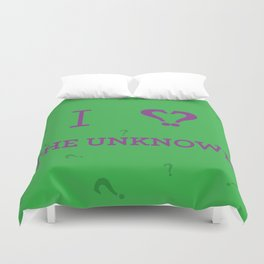 I heart The Unknown Duvet Cover