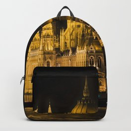 Budapest Parliament At Night Backpack