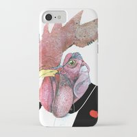 cock iPhone & iPod Cases featuring James Cock by nicoserrano