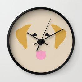 Golden Retriever Dog Illustration Wall Clock