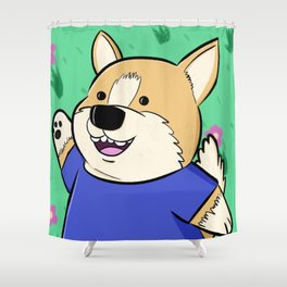 Corg Pal Shower Curtain