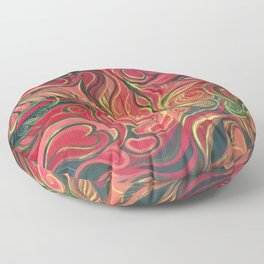 Abstract Red Gold and Black ~New Love Floor Pillow