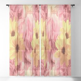 Summer Day Floral Sheer Curtain