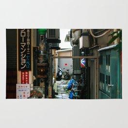 okinawan barbershop alley Rug