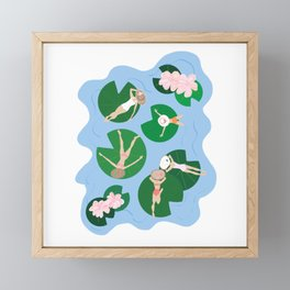 Lily Pads Framed Mini Art Print