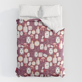 Alice in Wonderland - Purple Madness Comforters