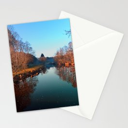 Winter mood on the river | waterscape photography Stationery Cards