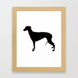 Greyhound Silhouette Framed Art Print