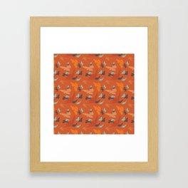 Bird Camouflage at Sunset Framed Art Print