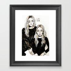 mary kate  and ashley Framed Art Print