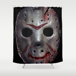 Happy Friday Mask Shower Curtain