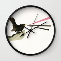 Bird in the Hand Wall Clock