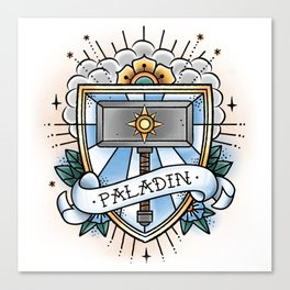 Paladin - Vintage D&D Tattoo Canvas Print