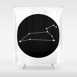 Leo Star Sign Night Sky Circle Shower Curtain