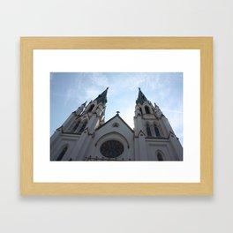 Cathedral, Savannah Ga. Framed Art Print