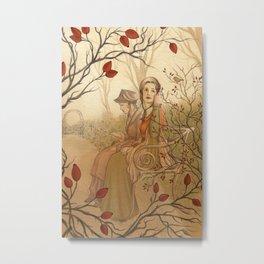 Jane Austen, Mansfield Park - the Garden Metal Print