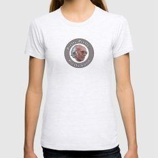 Larry David Womens Fitted Tee Ash Grey SMALL