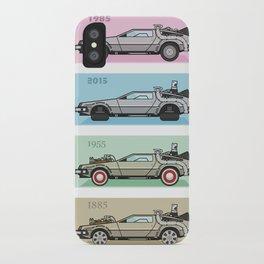 Back to the Future - Delorean x 4 iPhone Case