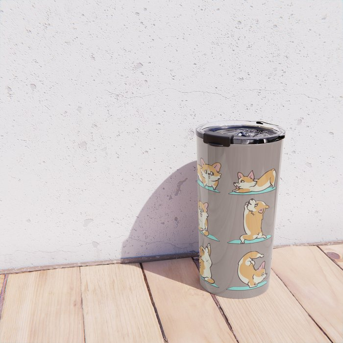 Corgi Yoga Travel Mug