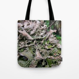 Life on a Fallen Tree Tote Bag