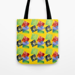 Painted Squares Jiggle - Yellow Tote Bag