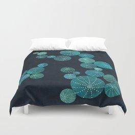 Turquoise cactus field Duvet Cover