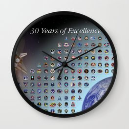NASA - 30 years of excellence Wall Clock