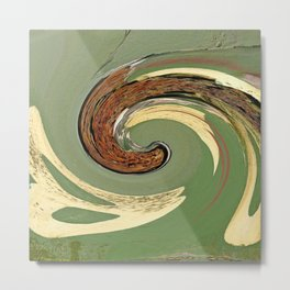 Swirl 05 - Colors of Rust / RostArt Metal Print