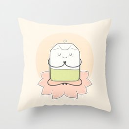 very zen green tea Throw Pillow