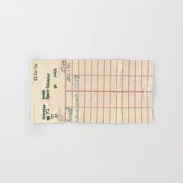 Library Card 797 Hand & Bath Towel