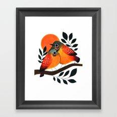 Fluffy Birds Framed Art Print