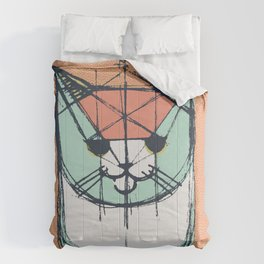 Cubist Cat Study #8 by Friztin Comforters