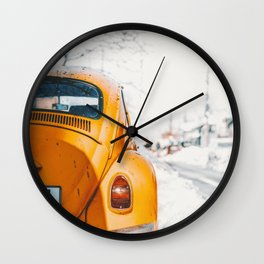 Yellow Taxi (Color) Wall Clock