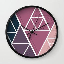 gradient triangles Wall Clock