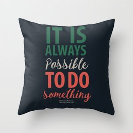 Giovanni Falcone, quote on justice, life, courage, strenght, fight, life, italian hero Throw Pillow