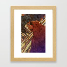 The Lament of Bear and Crow Framed Art Print