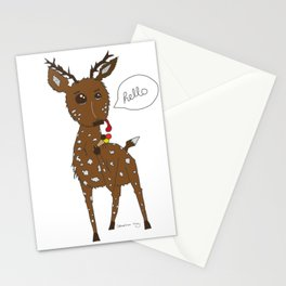 Diego the Deer Eats Ice-Cream Stationery Cards
