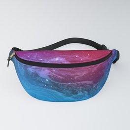 Pink & Blue Nebula Marble Fanny Pack
