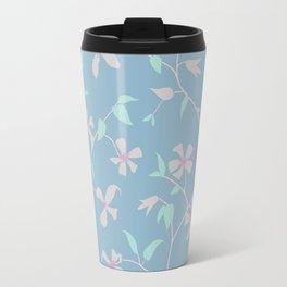 Floral Clematis Vine - Cool Summer Travel Mug