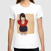 crowley T-shirts featuring Good Omens: Female Crowley by Abbi Laura