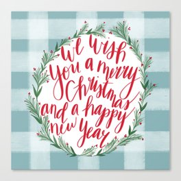 Merry Christmas & Happy New Year Canvas Print
