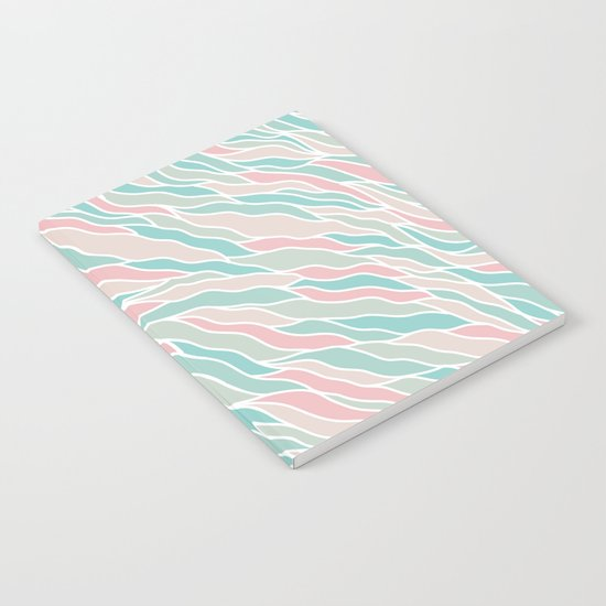 Modern Abstract Stripes Pattern Notebook