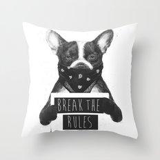 Rebel dog Throw Pillow