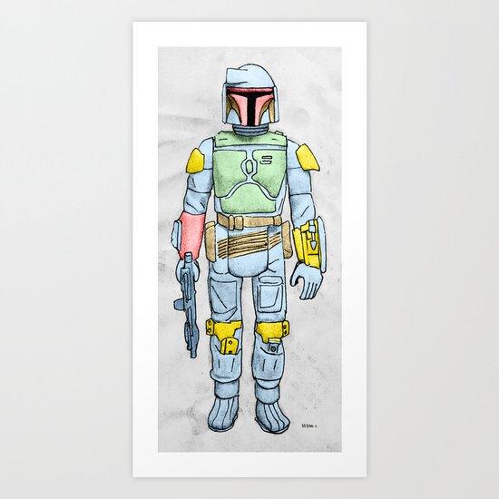 My Favorite Toy - Boba Fett Art Print