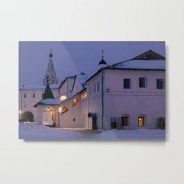 Christmas Evening light in the Temple Suzdal Metal Print