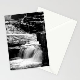 Black And White Cascades Stationery Cards