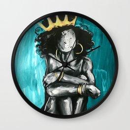 Naturally Queen IX TEAL Wall Clock
